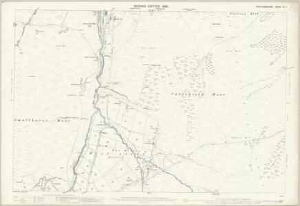 Northumberland (Old Series) CXI.1 (includes: Allendale Common; West Allen) - 25 Inch Map