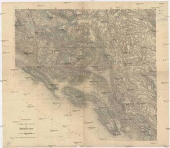 Übersichtsblatt zum Kriegsspielplan der Umgebung von Cattaro