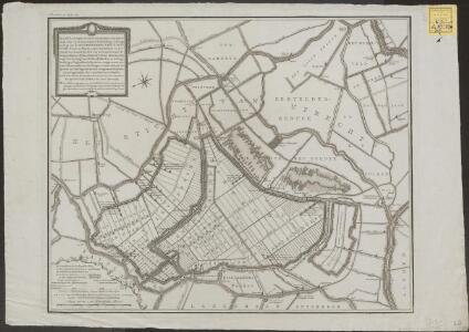 Kaart, gecopieerd uit de groote kaart van Rhynland, waar op de geconcipieerde bedyking en droogmaking van de gecombineerde Nieukoopsche Plas, en plassen onder Amstelland en het Sticht, ten Noord-Oosten van Zevenhoven, met de ring- en- binnen dyken, stand