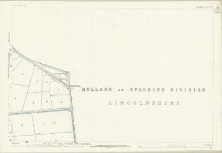 Cambridgeshire VI.2 (includes: Fleet; Gedney Hill; Parson Drove; Sutton St Edmund; Thorney) - 25 Inch Map