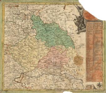 Nova mappa geographica regni Bohemiae,] duc. [Silesiae marchi. Moraviae, march. Austriae] et Lusatiae ecaet.