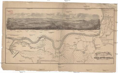 Promenaden-Plan von Carlsbad zur König Otto's Quelle