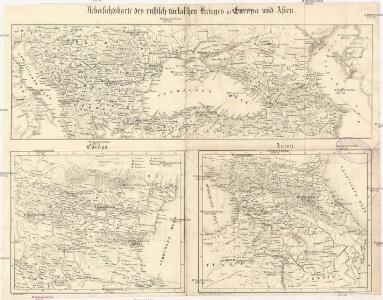 Uebersichtskarte des russisch-türkischen Krieges in Europa und Asien