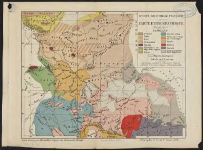 Afrique équatoriale française. Carte ethnographique. Planche nord