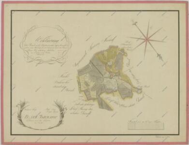 Mapa pozemků dvora Bzí 1