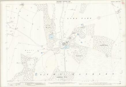 Cheshire XXIX.2 (includes: Lyme Handley) - 25 Inch Map