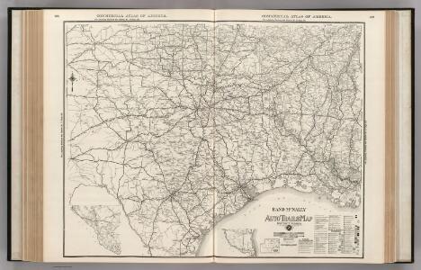 AutoTrails Map, Texas, Oklahoma, Louisiana, Arkansas.