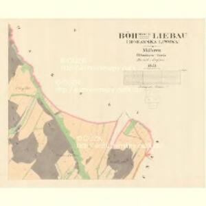 Böhmisch Liebau (Morawska Liwowa) - m0504-2-002 - Kaiserpflichtexemplar der Landkarten des stabilen Katasters
