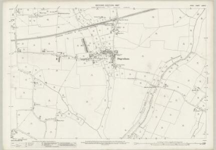 Essex (1st Ed/Rev 1862-96) LXXIV.11 (includes: Dagenham; Hornchurch) - 25 Inch Map