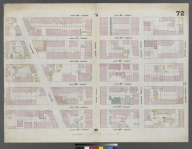 Plate 72: Map bounded by West 32nd Street, East 32nd Street, Fourth Avenue, East 27th Street, West 27th Street, Sixth Avenue
