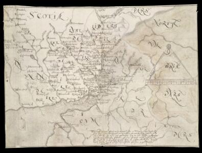 A Platt of the opposete Borders of Scotland to ye west marches of England