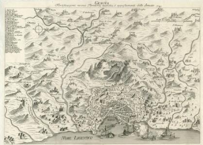 Genova Fortificazioni nuove Territorio, marchie, è appostamenti delle Armate