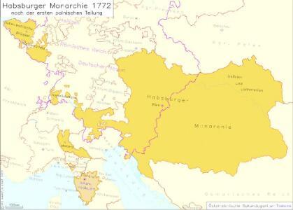 Habsburger Monarchie 1772 nach der ersten polnischen Teilung