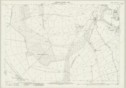 Dorset XXII.1 (includes: Hermitage; Hilfield; Holnest; Leigh; Minterne Magna) - 25 Inch Map
