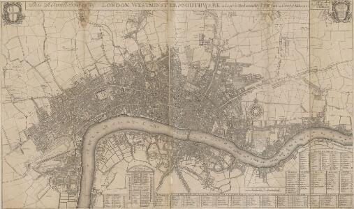 This Actuall Survey Of LONDON, WESTMINSTER AND SOUTHWARK Is humbly Dedicated To Y.e L.d M.Yor & Court Of Aldermen by R.o: Morden, Phil: Lea Chr: Browne