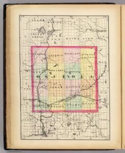 (Map of Osceola County, Michigan)