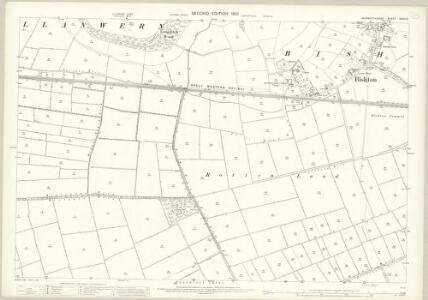 Monmouthshire XXXIV.3 (includes: Bishopston; Llan Wern; Whitson) - 25 Inch Map