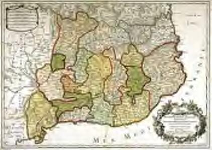 Principauté de Catalogne ou sont compris les comtés de Roussillon, et de Cerdagne