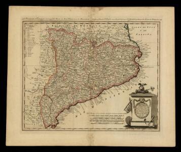 La principauté de Catalogne selon la grande charte du Mons. T. Lopez & sur les observations astronomiques faites par J.J. Cassini / nouvellement dressée par F.L. Gussefeld & publiée par les Heritieres de Homann l'an 1798