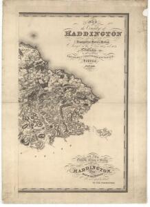 Map of the county of Haddington.