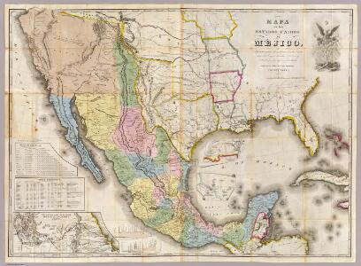 Mapa de los Estados Unidos De Mejico.