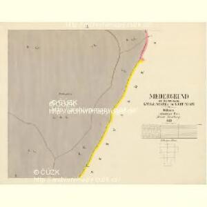 Niedergrund - c1362-2-008 - Kaiserpflichtexemplar der Landkarten des stabilen Katasters
