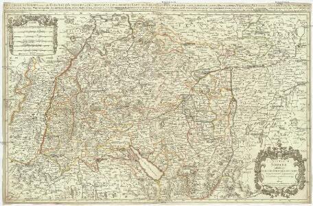 Le cercle de Souabe subdivisé en touts les estats quile composent
