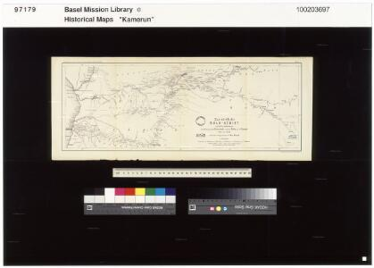 The northern Bulu region according to the survey by First Lieutenant von Glisczinski, Lieutenant Nolte und Dr. Bennett in 1897 and 1898. Designed and drawn by Max Moisel. (Mittheilungen aus den deutschen Schutzgebieten)