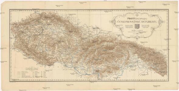 Přehledná mapa Československé republiky