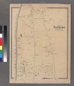 Plate 21: Town of Yonkers, Westchester County. (River Dale.)