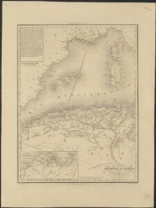 Carte de la Régence d'Alger et d'une partie du Bassin de la Méditerranée, donnant le rapport qui existe entre la France et les États Barbaresques