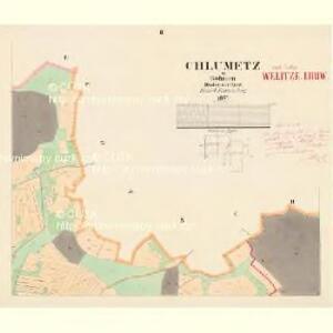 Chlumetz - c2522-1-002 - Kaiserpflichtexemplar der Landkarten des stabilen Katasters