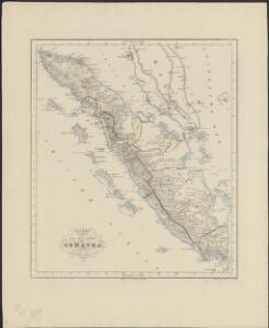 Kaart van het eiland Sumatra