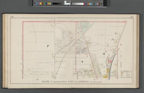 Cayuga County, Left Page Plate No. 5 [Map bounded by town of Throop, Allen St., Town of Aurelius] / by the Company's corps of expert engineers and draughtsmen ; Otto Barthel, chief engineer.