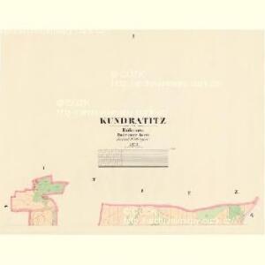 Kundratitz - c3703-1-001 - Kaiserpflichtexemplar der Landkarten des stabilen Katasters