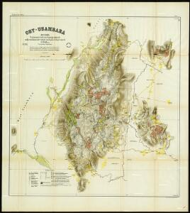 German East Africa. Map 1. East Usambara. 1897-1899. Trigonometric and topographically surveyed, calculated and drawn by H. Böhler