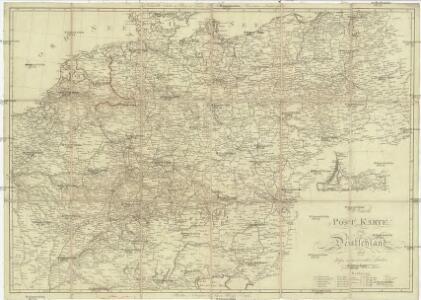 Neueste Post Karte Von Deutschland Und Dessen Angrenzenden Lander