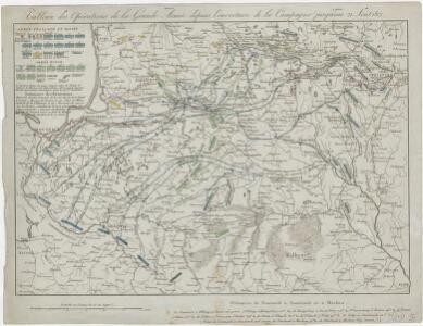 Tableau des opérations de la Grande Armée depuis l'ouverture de la campagne jusqu'au 21 Aout 1812