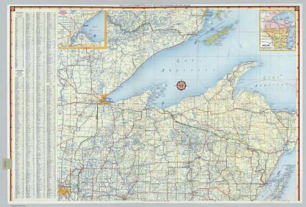 Shell Highway Map of Wisconsin (southern portion).