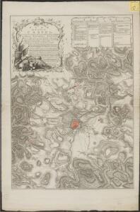Plan du siege de Cassel, avec les travaux et les tranchées des alliés devant cette place, commande par S. A. S. Monseigneur Le Prince Frederic Auguste Duc de Brunswic et de Luneburg, ... depuis le 18. d'Aout jusqu'au 1. Novembre 1762 où la place se [...]