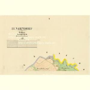 Bunzendorf - c0345-2-001 - Kaiserpflichtexemplar der Landkarten des stabilen Katasters