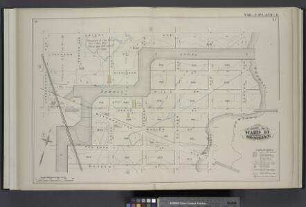 Vol. 2. Plate, E. [Map bound by Orient Ave., City Line, Meadow St., Canal, Vandervoort Ave.; Including Calhoun St., Dickinson St., Mill St., Grand St., Maujer St., Ten Eyck St., Porter Ave., Varick Ave., Metropolitan Ave., Stewart Ave., Gardner Ave., Sco