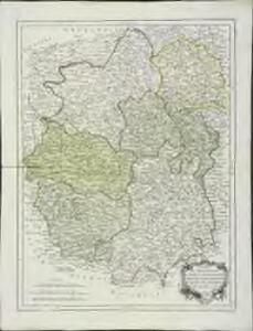 Carte des gouvernements du Berri, du Nivernois, de la Marche, du Bourbonnois, du Limosin et de l'Auvergne
