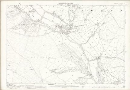 Derbyshire VII.10 (includes: Derwent; Hope Woodlands) - 25 Inch Map