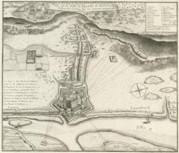 Plan de la Ville et Citadelle de Harbourg et les attaques des Hannovriens
