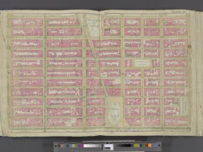 Manhattan, Double Page Plate No. 14 [Map bounded by W. 25th St., 2nd Ave., E. 14th St., 7th Ave.]