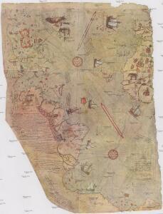 Bu harita, büyük Türk denizcisi Piri reis tarasindam 1513 tarihinde yapilmis olan ve Topkapi Müzesinde bulunan aslindan alinarak basilmistir