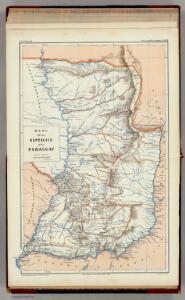 Mapa de la Republica del Paraguay.