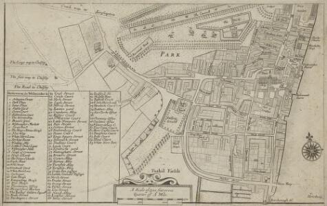 Plan of the Parish of St. Margaret, Westminster From Lea & Morden's Map