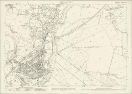 Sussex XLV.7 (includes: East Guldeford; Rye; St Thomas The Apostle Winchelsea) - 25 Inch Map